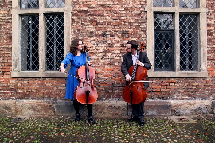 The Cellists wedding musicians playing the cello