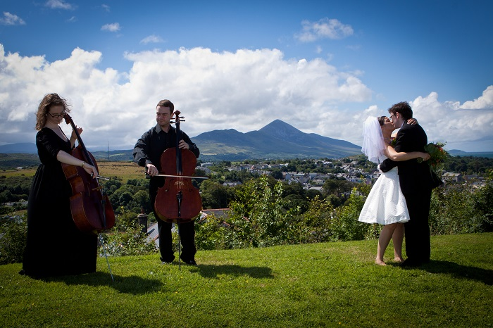 The Cellists playing wedding music in Ireland