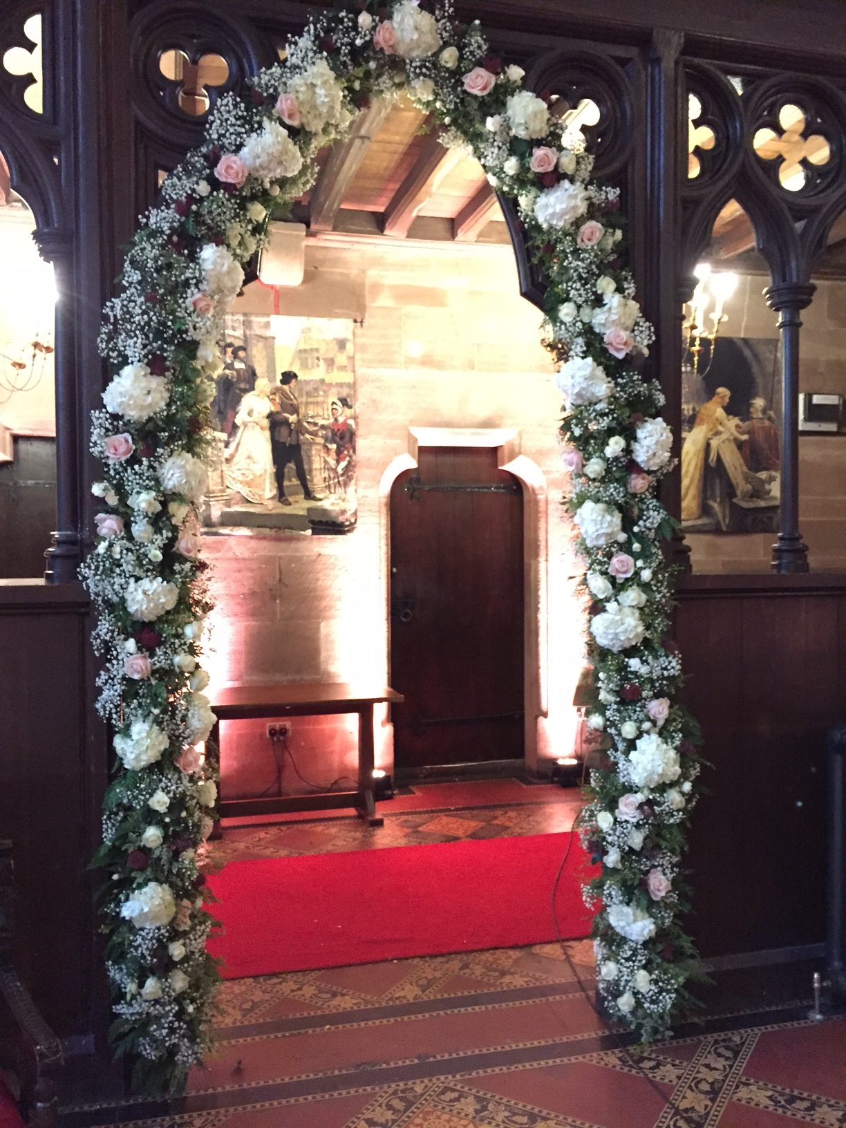 wedding music flower arch cheshire